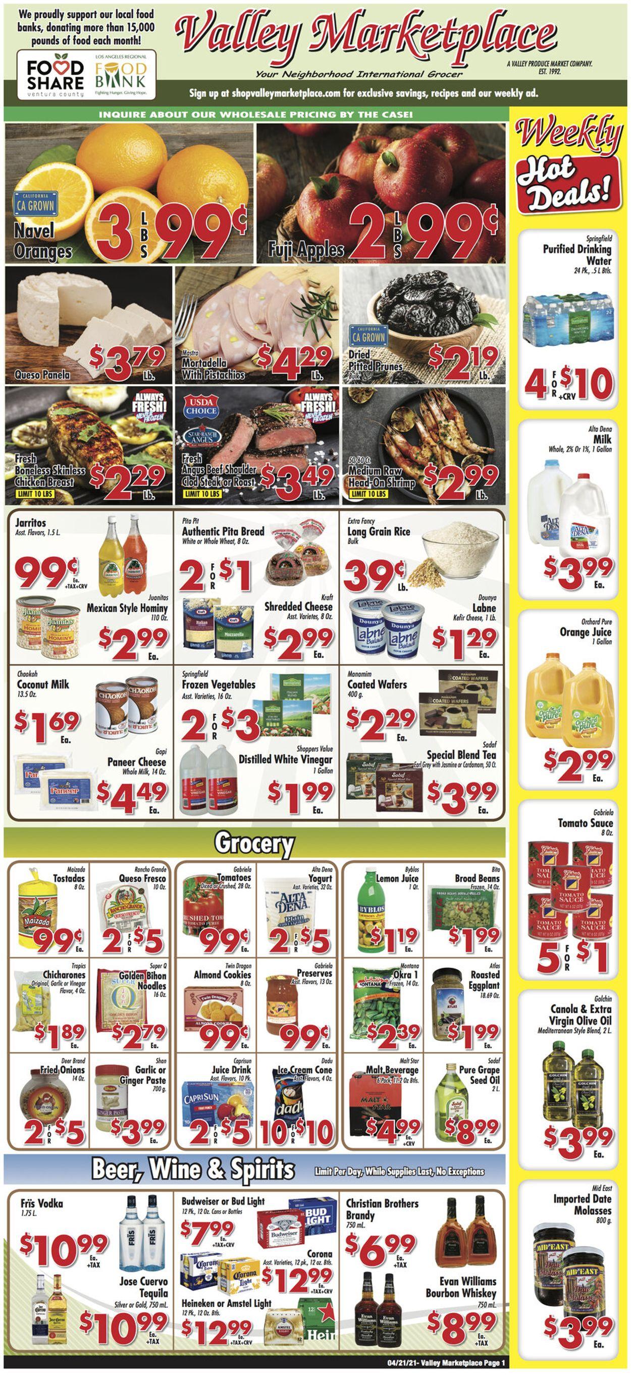 Valley Marketplace Weekly Ad Circular - valid 04/21-04/27/2021