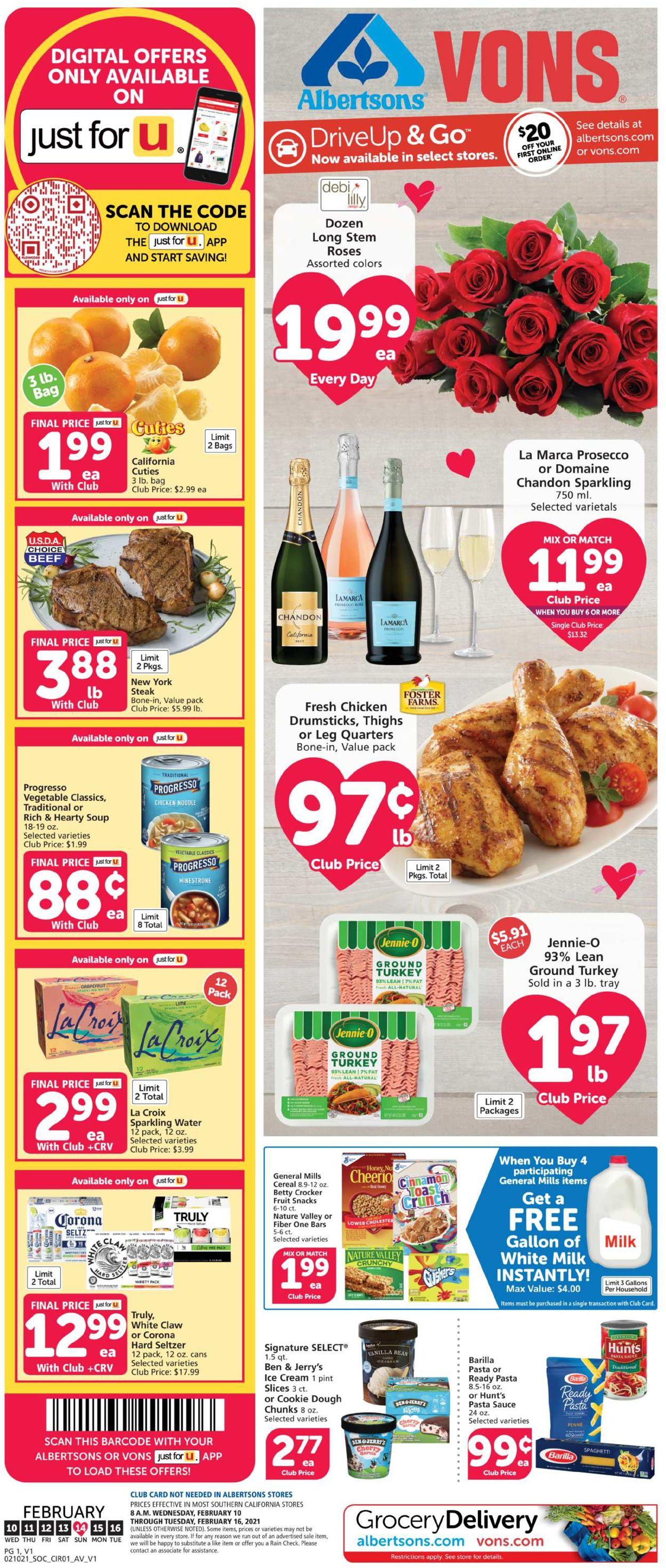 Vons Weekly Ad Circular - valid 02/10-02/16/2021