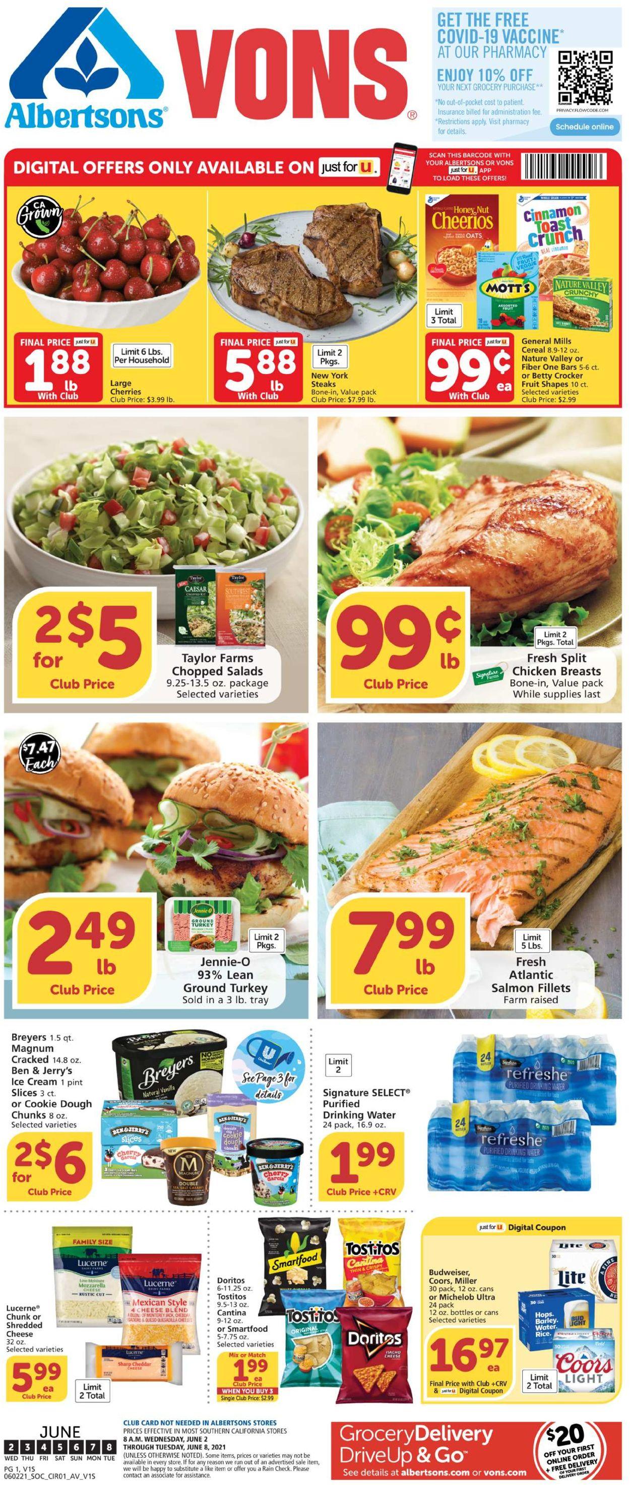 Vons Weekly Ad Circular - valid 06/02-06/08/2021