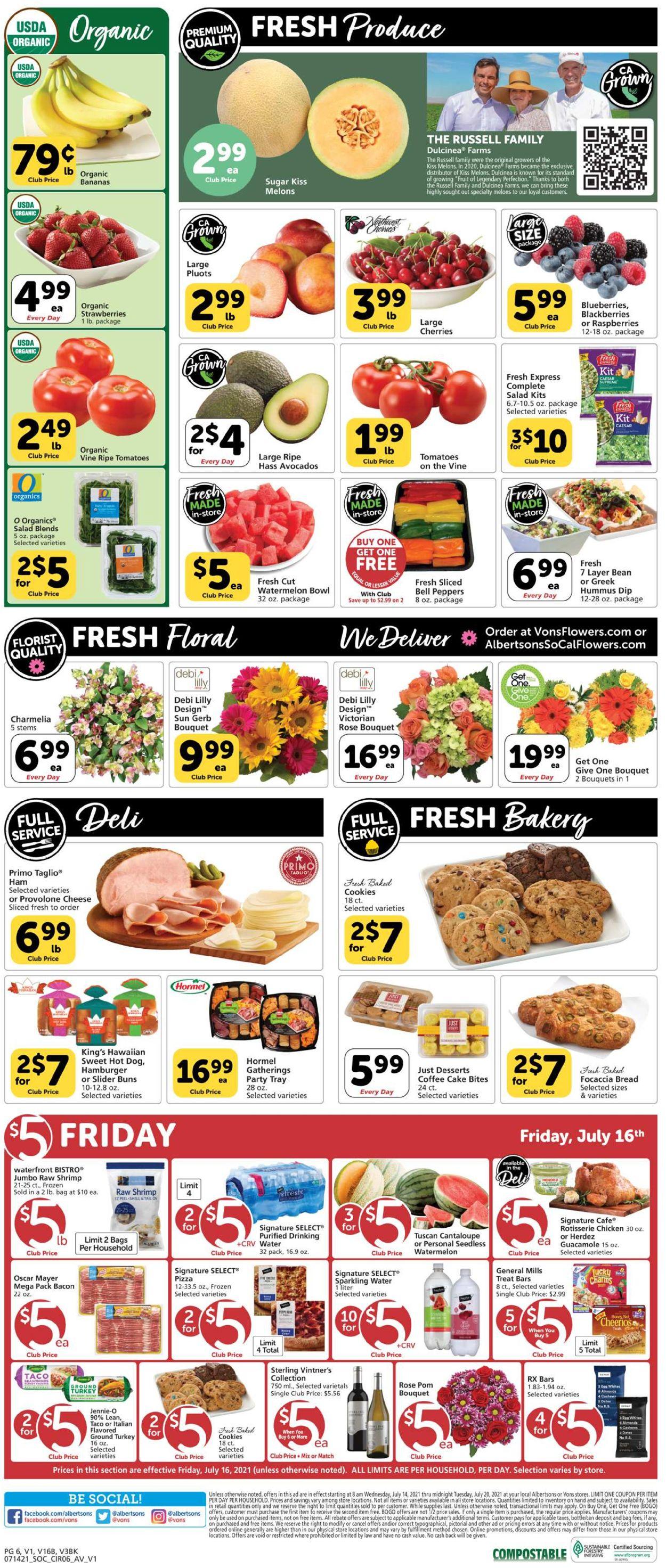 Vons Weekly Ad Circular - valid 07/14-07/20/2021 (Page 6)