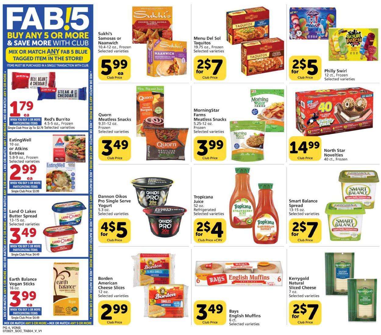 Vons Weekly Ad Circular - valid 07/28-08/25/2021 (Page 4)