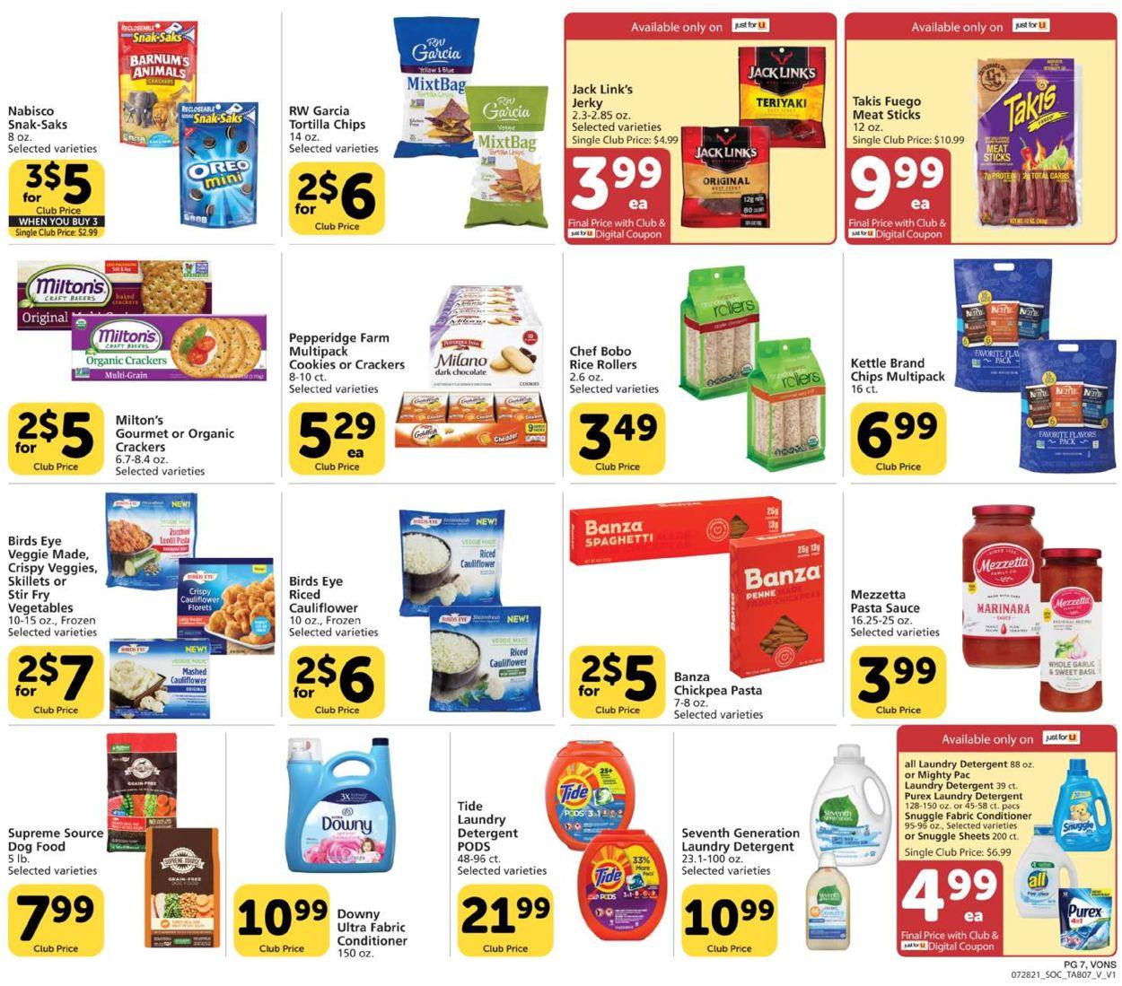 Vons Weekly Ad Circular - valid 07/28-08/25/2021 (Page 7)
