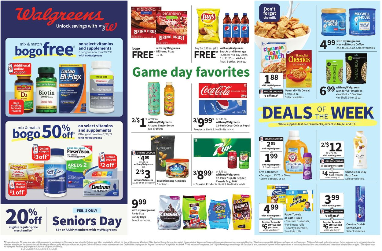 Walgreens Weekly Ad Circular - valid 01/31-02/06/2021