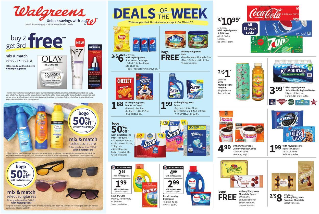 Walgreens Weekly Ad Circular - valid 06/13-06/19/2021