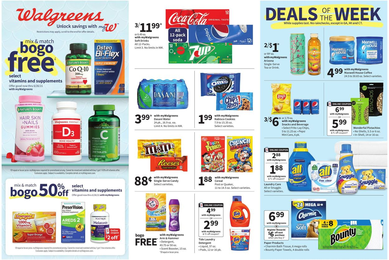 Walgreens Weekly Ad Circular - valid 06/20-06/26/2021
