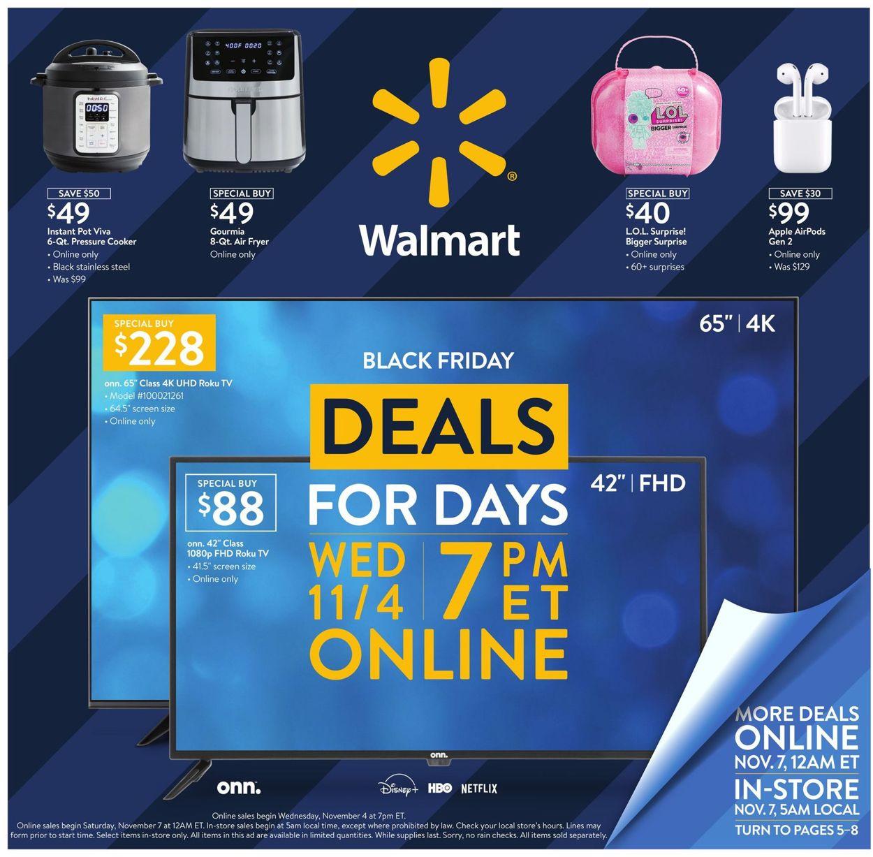 Walmart Black Friday 2020 Ad Circular - 11/04 - 11/08/2020 ...