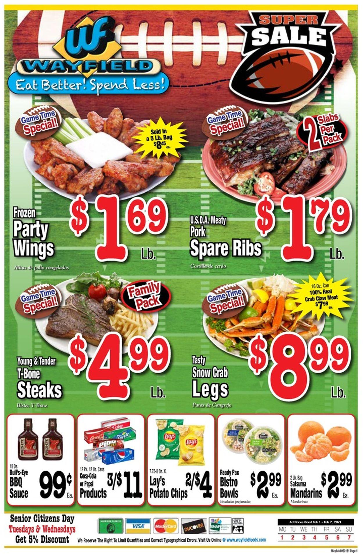 Wayfield Weekly Ad Circular - valid 02/01-02/07/2021