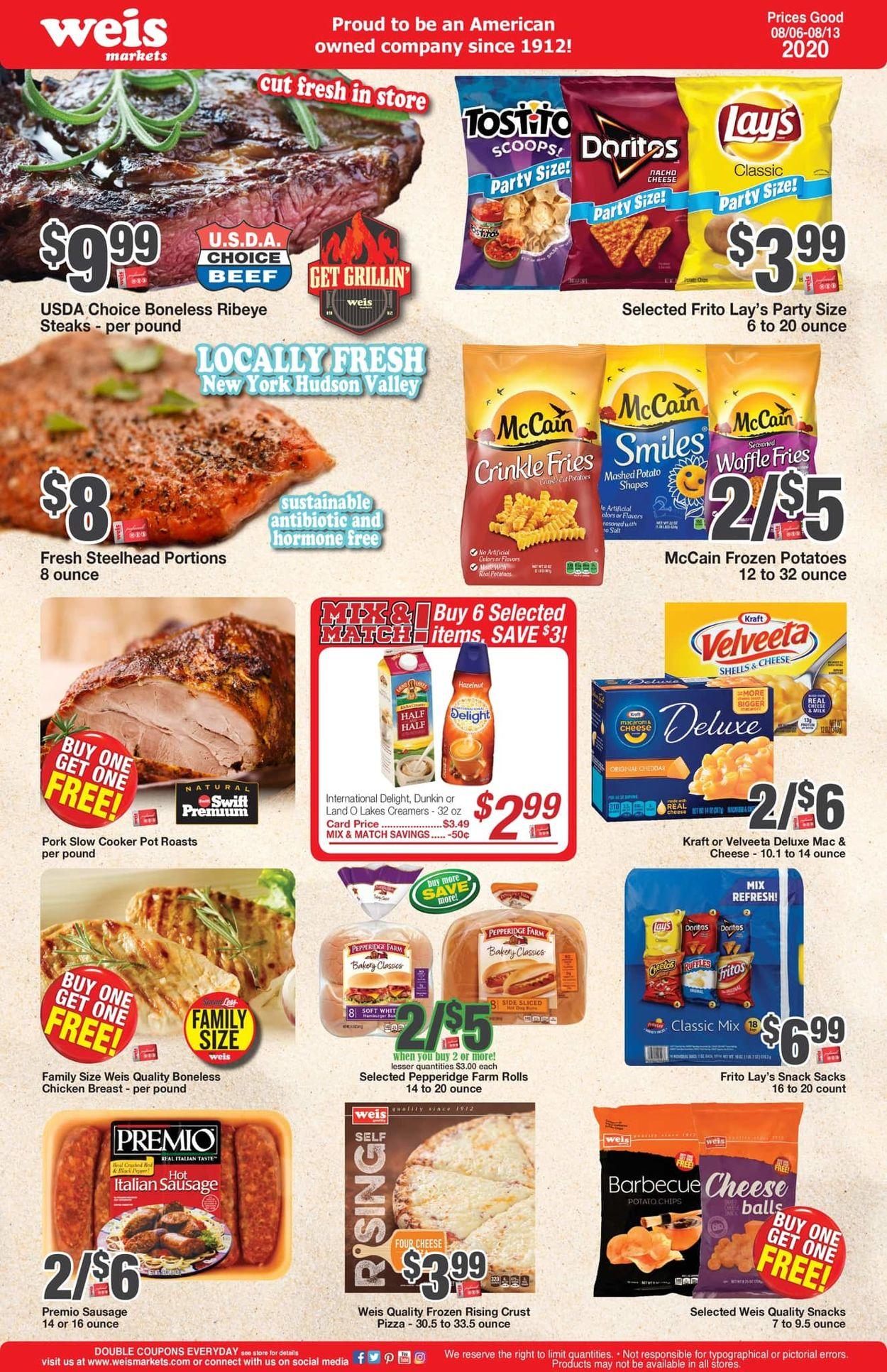 Weis Weekly Ad Circular - valid 08/06-08/13/2020
