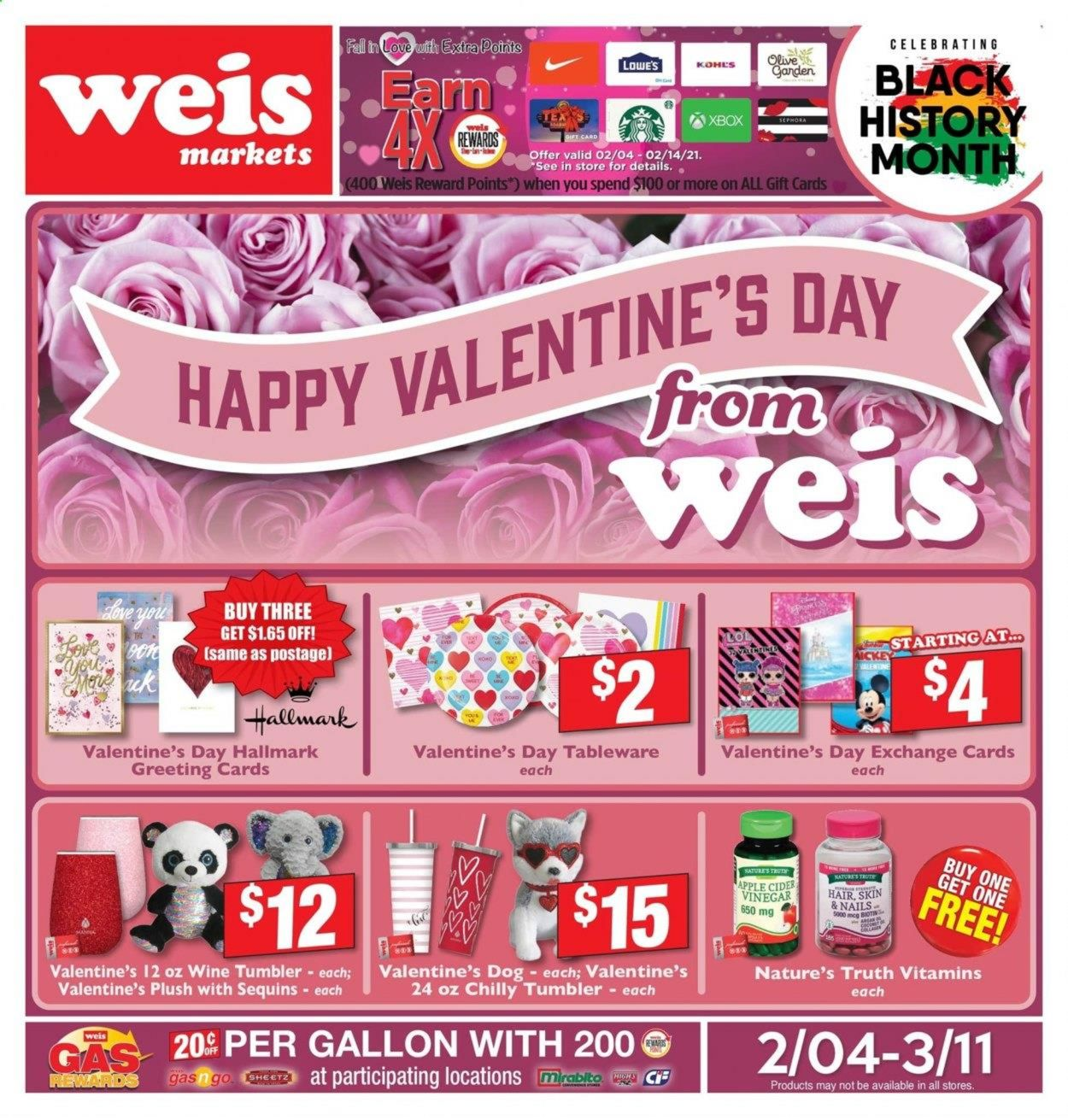 Weis Weekly Ad Circular - valid 02/04-03/11/2021