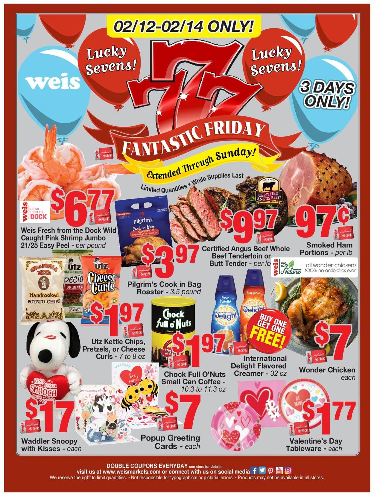 Weis Weekly Ad Circular - valid 02/12-02/14/2021