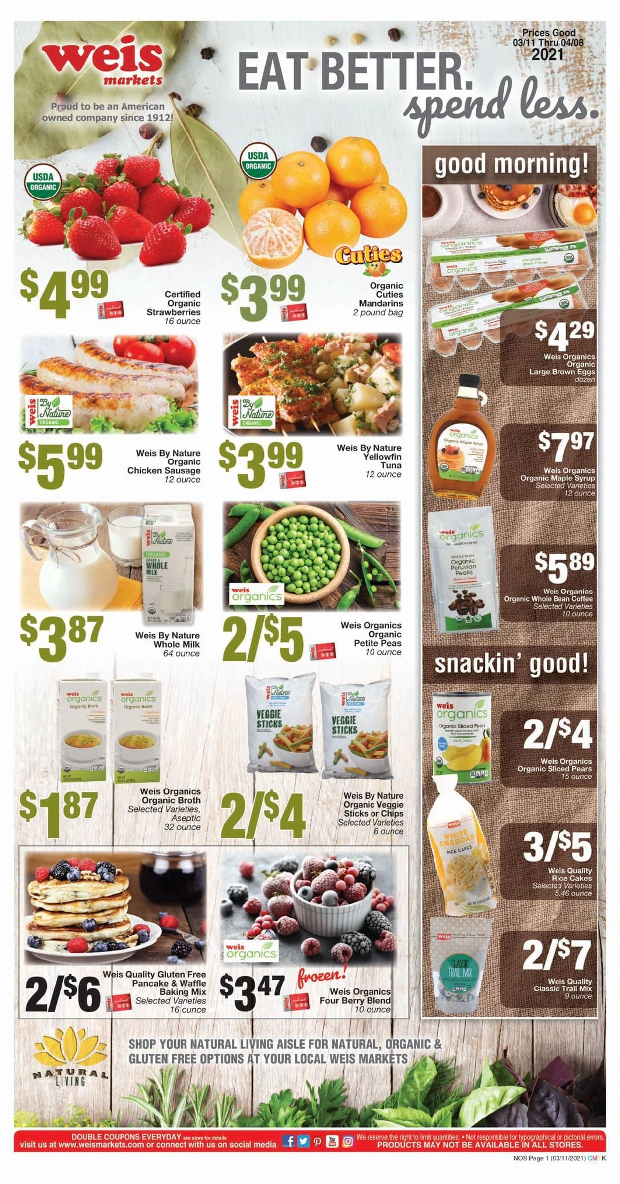 Weis Weekly Ad Circular - valid 03/11-04/08/2021