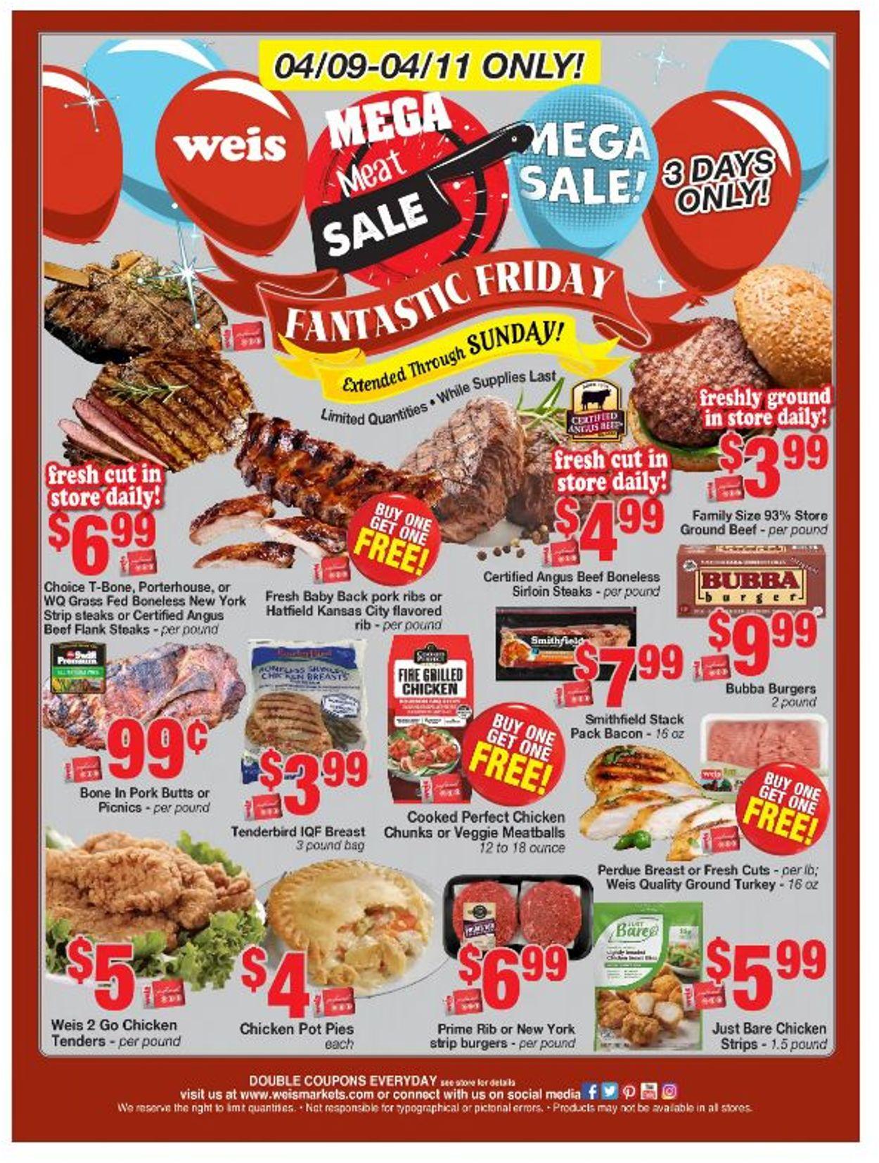 Weis Weekly Ad Circular - valid 04/09-04/11/2021