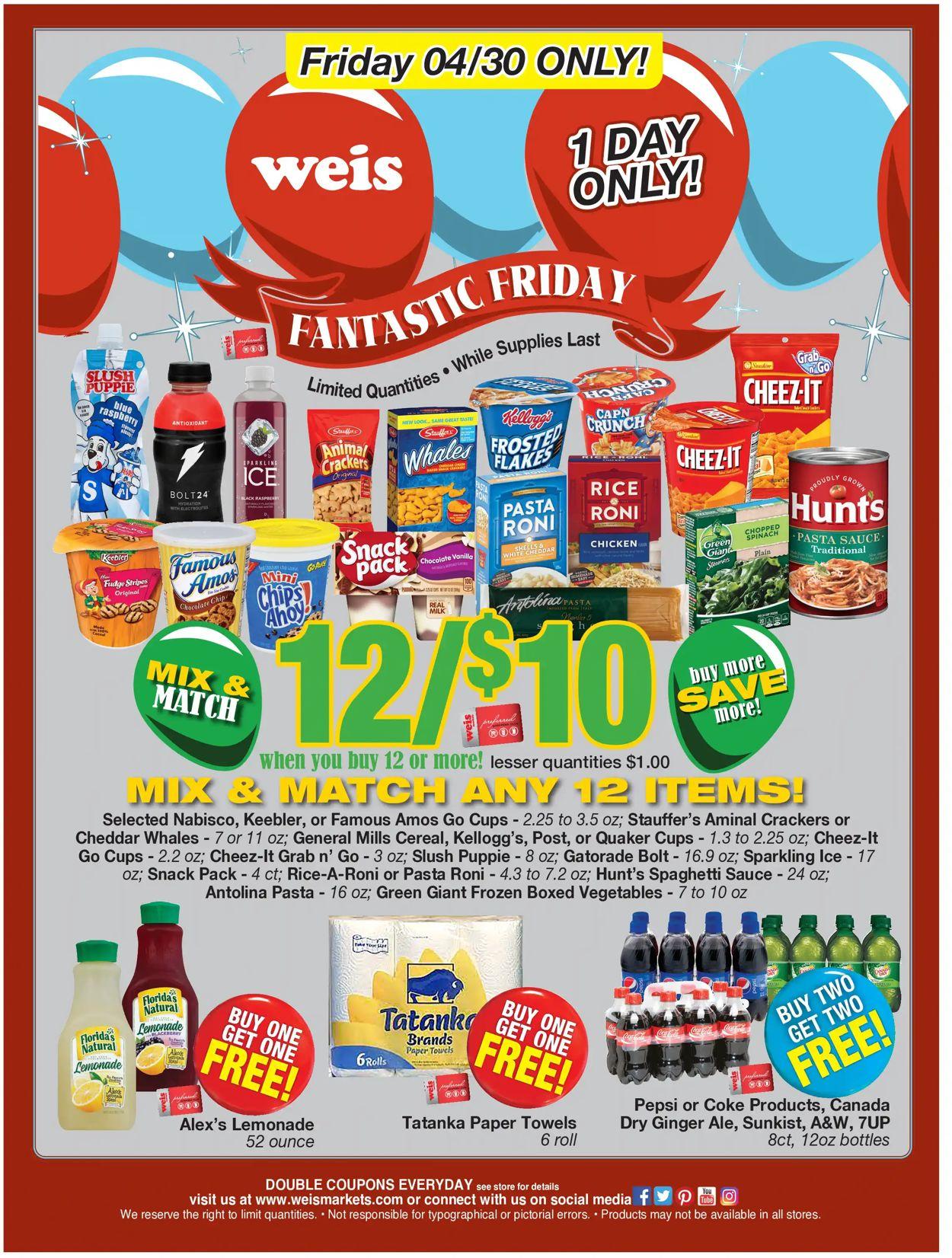 Weis Weekly Ad Circular - valid 04/30-04/30/2021
