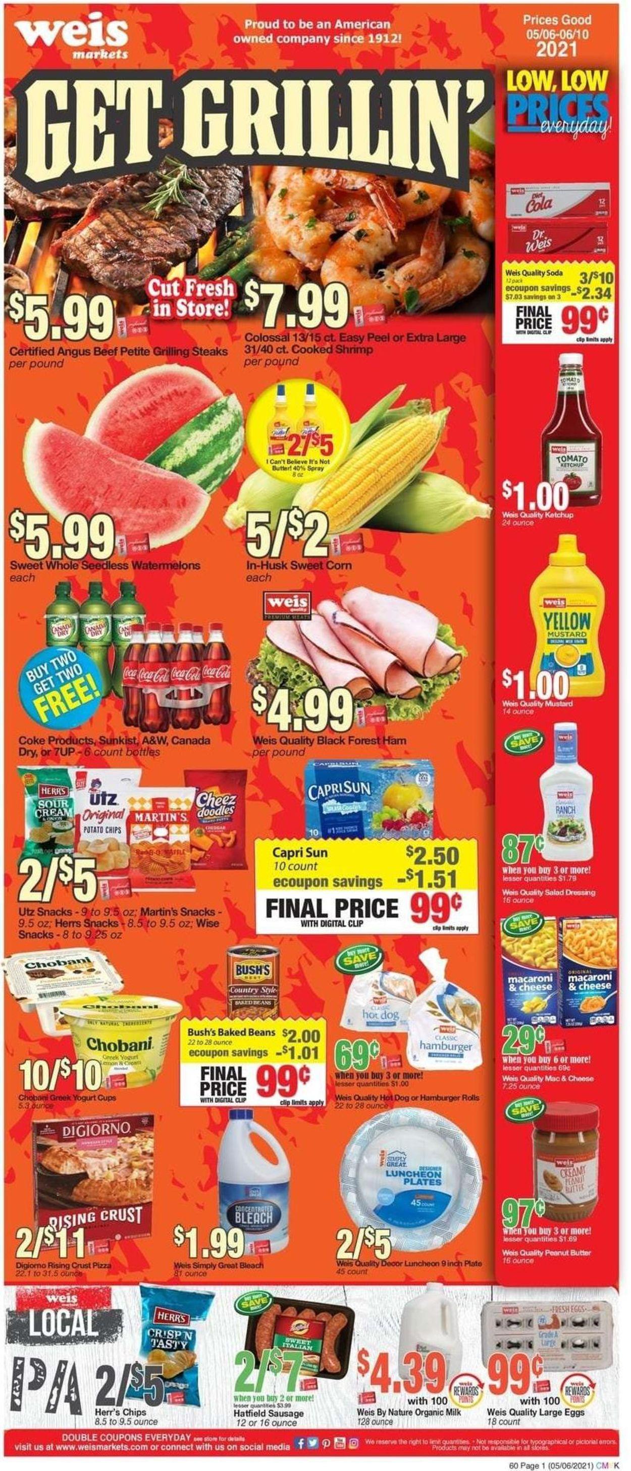 Weis Weekly Ad Circular - valid 05/06-06/10/2021