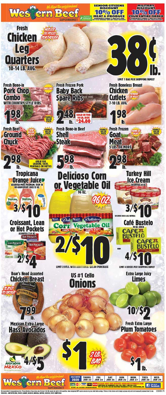 Western Beef Weekly Ad Circular - valid 01/23-01/29/2020
