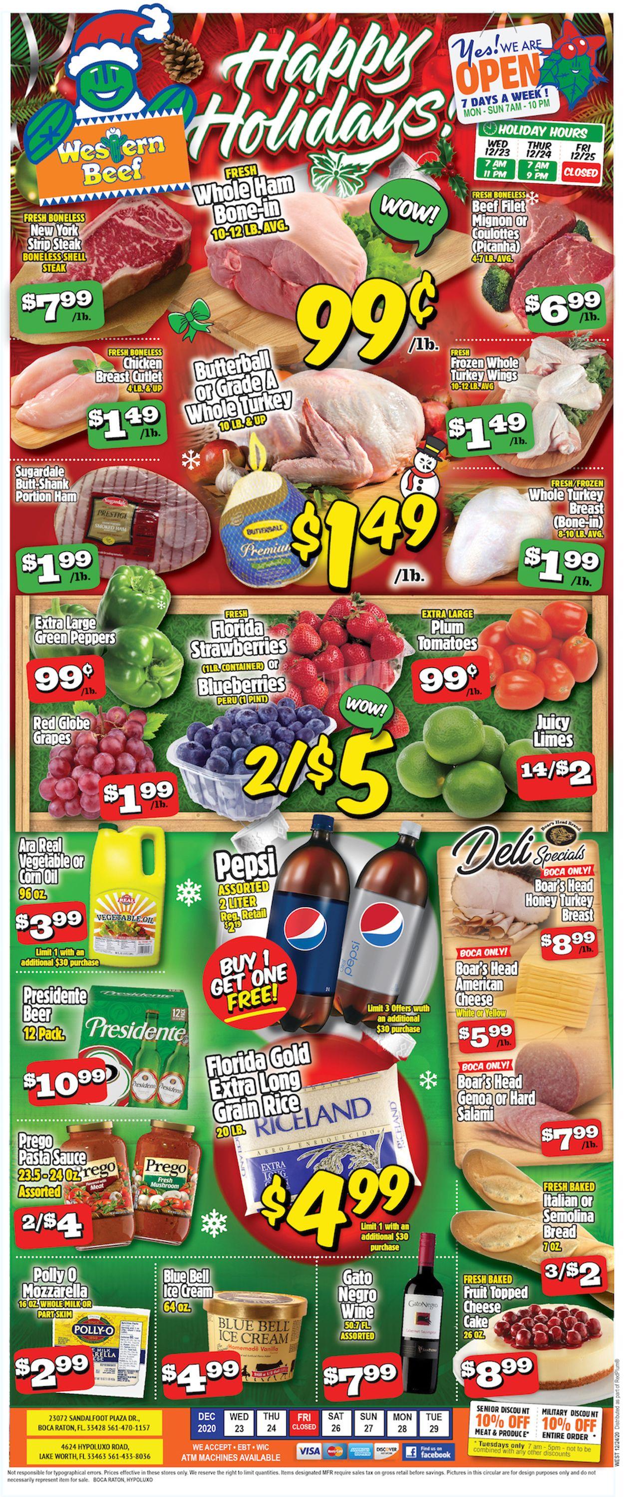 Western Beef Weekly Ad Circular - valid 12/23-12/29/2020
