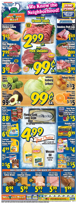 Western Beef Weekly Ad Circular - valid 01/07-01/13/2021