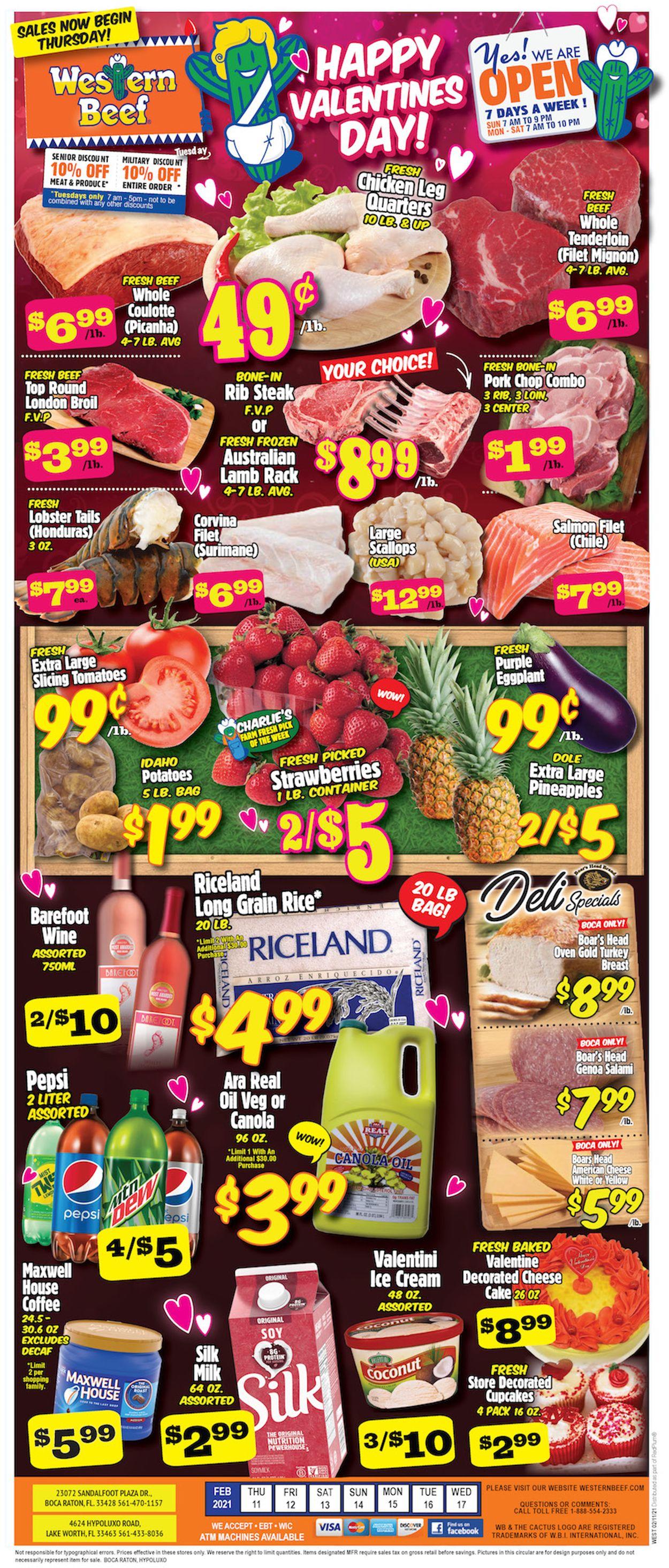 Western Beef Weekly Ad Circular - valid 02/11-02/17/2021