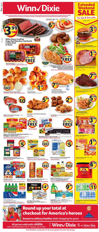 Winn Dixie Weekly Ad Circular - valid 06/09-06/15/2021