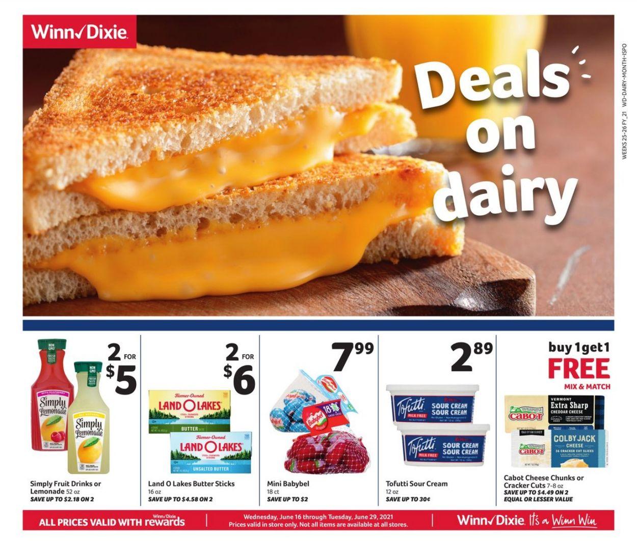 Winn Dixie Weekly Ad Circular - valid 06/16-06/29/2021