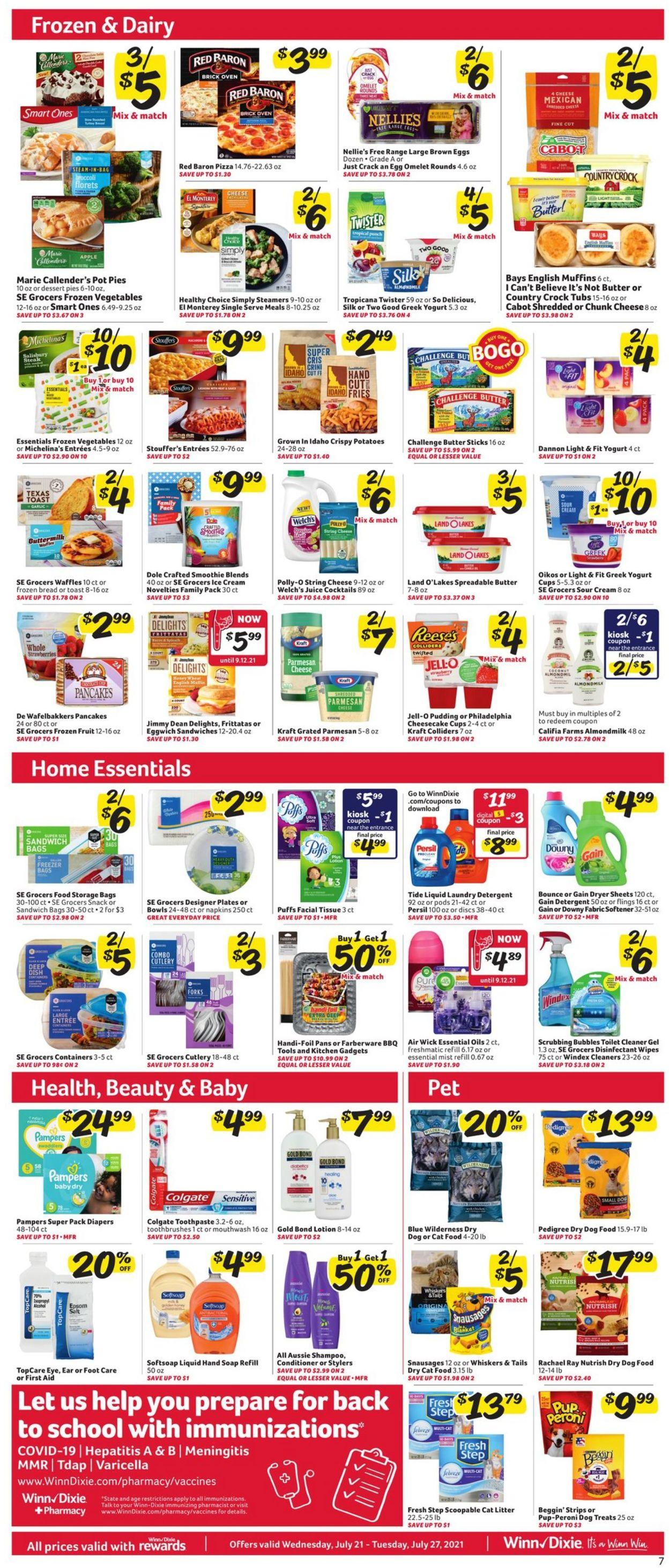Winn Dixie Weekly Ad Circular - valid 07/21-07/27/2021 (Page 8)