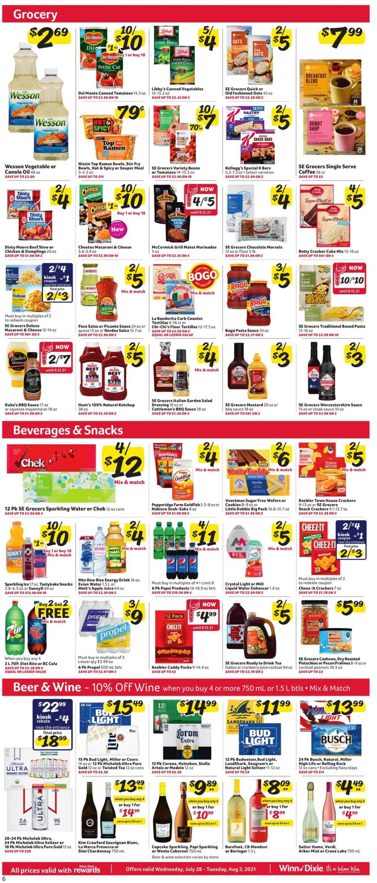 Winn Dixie Weekly Ad Circular - valid 07/28-08/03/2021 (Page 7)