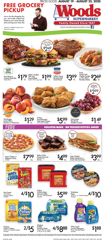 Woods Supermarket Weekly Ad Circular - valid 08/19-08/25/2020