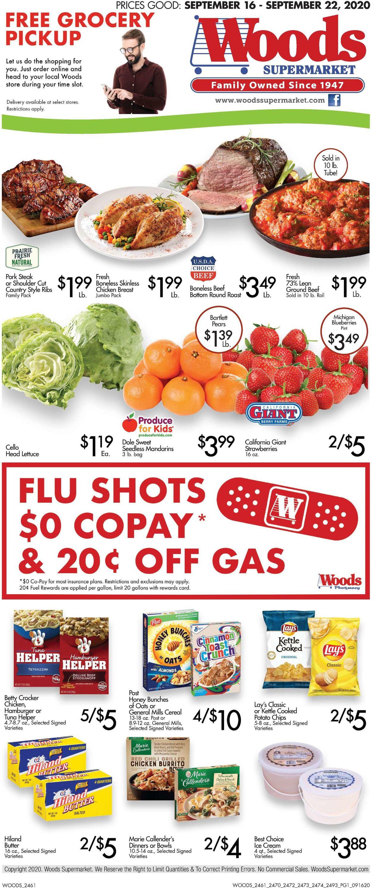 Woods Supermarket Weekly Ad Circular - valid 09/16-09/22/2020