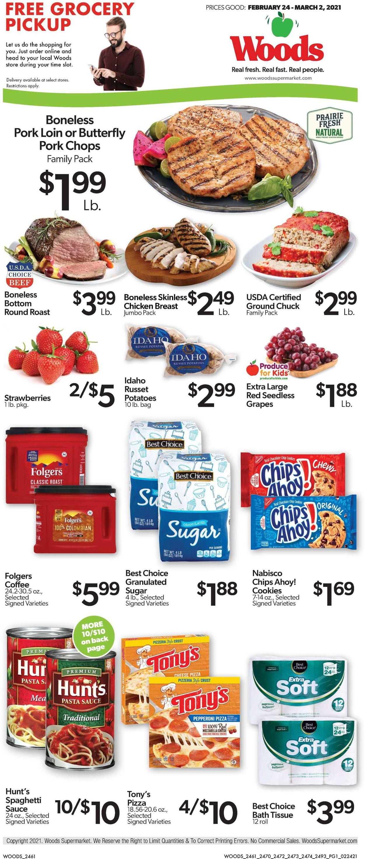 Woods Supermarket Weekly Ad Circular - valid 02/24-03/02/2021