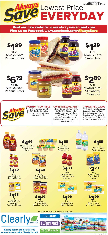 Woods Supermarket Weekly Ad Circular - valid 03/17-04/12/2021