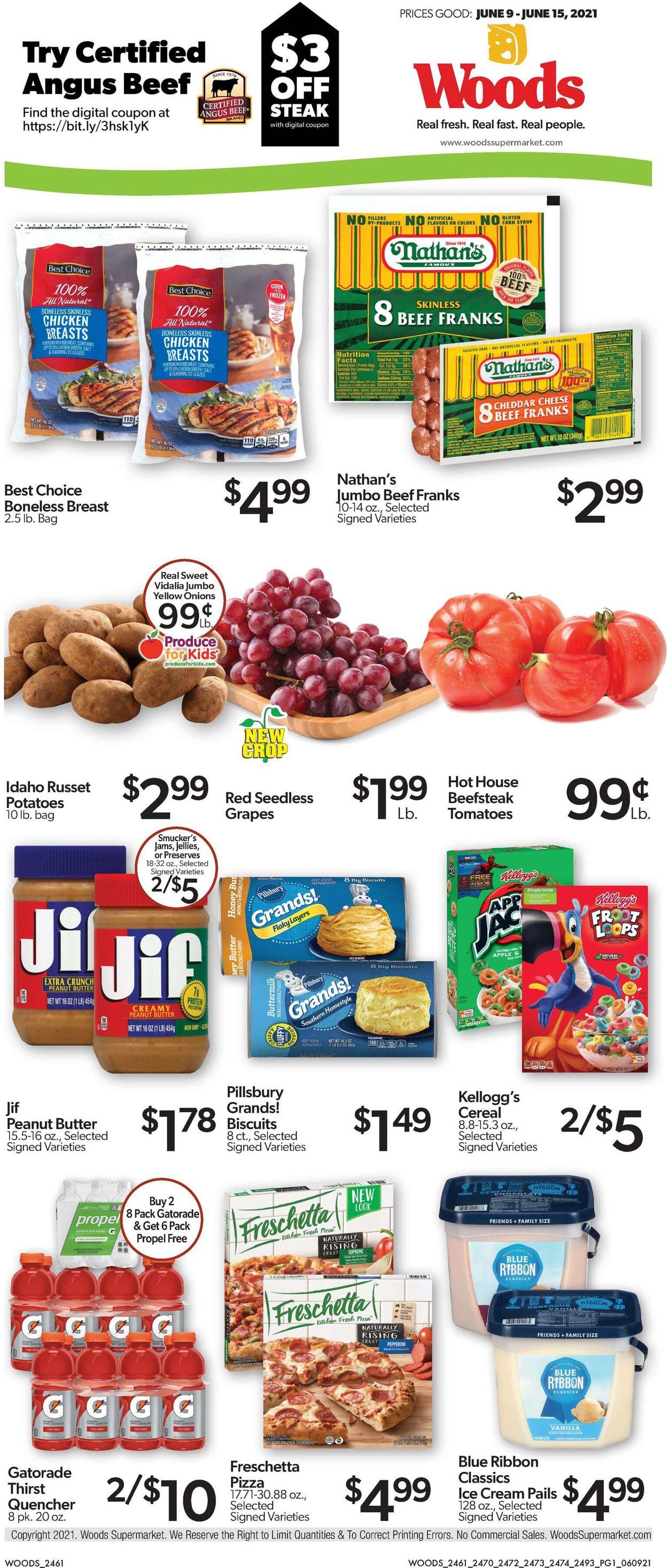 Woods Supermarket Weekly Ad Circular - valid 06/09-06/15/2021
