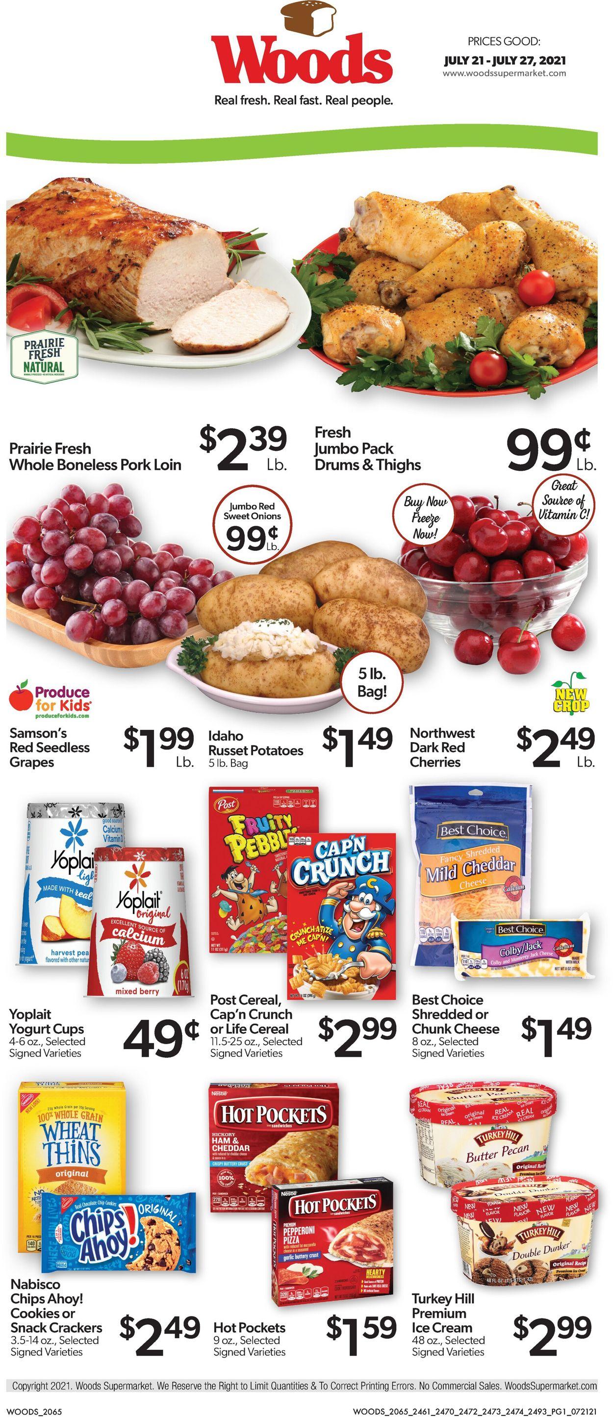 Woods Supermarket Weekly Ad Circular - valid 07/21-07/27/2021