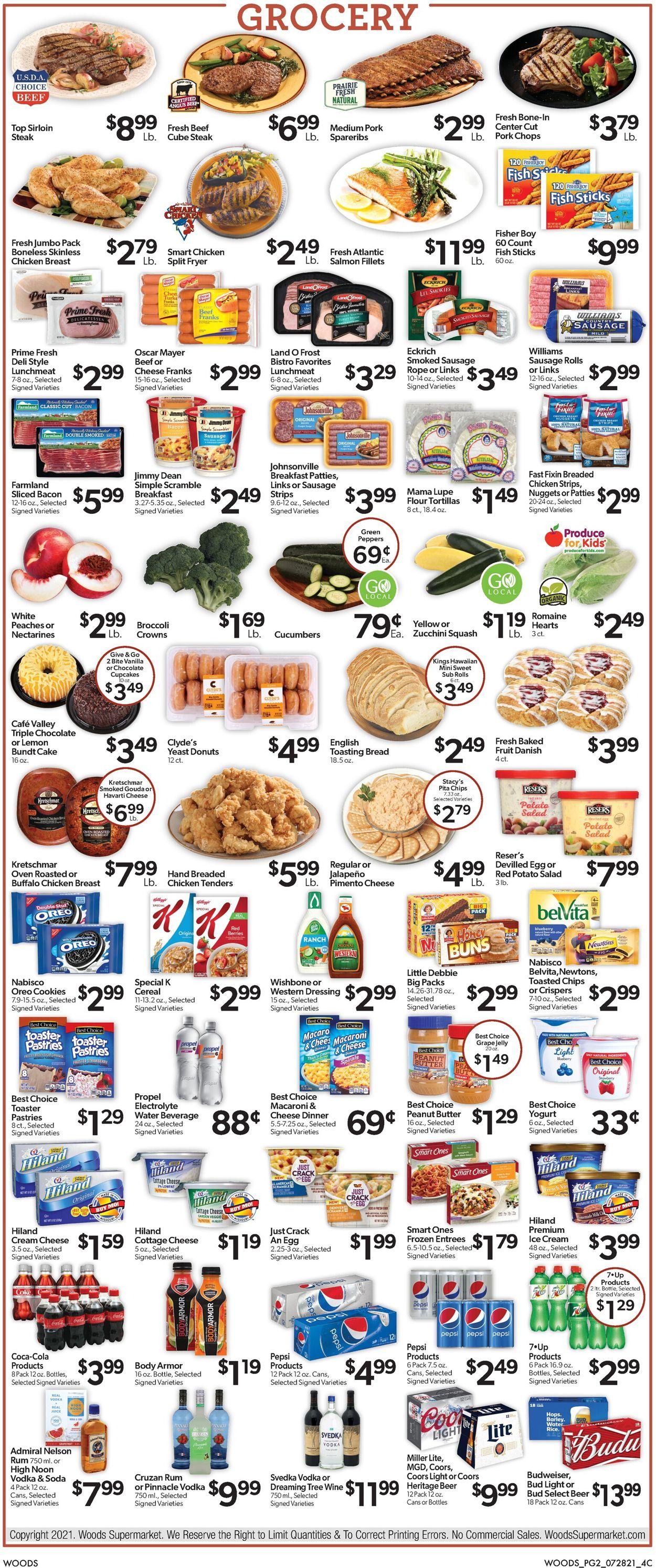 Woods Supermarket Weekly Ad Circular - valid 07/28-08/03/2021 (Page 2)