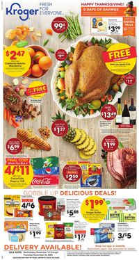 Kroger Thanksgiving ad 2020