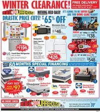 ABC Warehouse Winter Clearance 2021