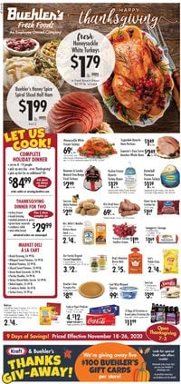 Buehler's Fresh Foods Thanksgiving 2020 Ad