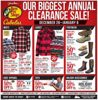 Cabela's Annual Clearance Sale!