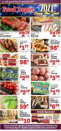Food Depot New Year's Ad