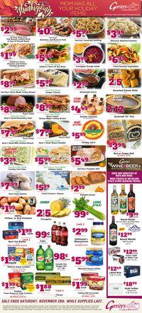 Gerrity's Supermarkets Thanksgiving 2020