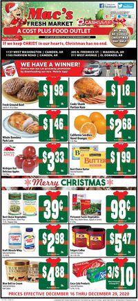 Mac's Freshmarket Christmas ad 2020