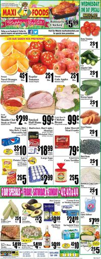 Maxi Foods Easter 2021 ad