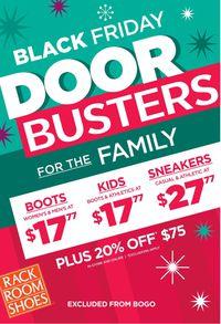 Rack Room Shoes - Black Friday Ad Sale 2019