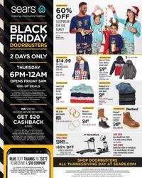 Sears BLACK FRIDAY AD 2019