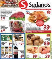 Sedano's Thanksgiving 2020
