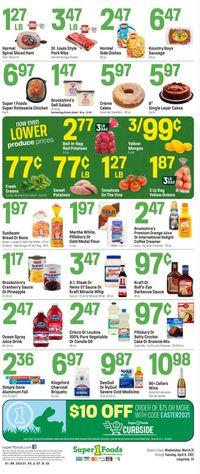 Super 1 Foods Easter 2021 ad