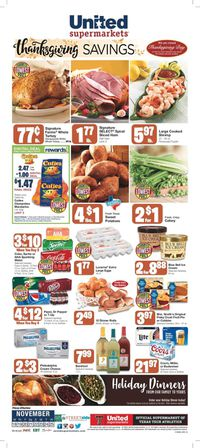 United Supermarkets Thanksgiving ad 2020