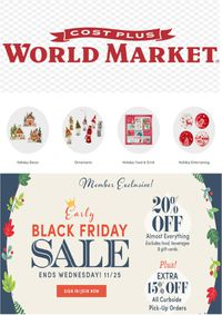 World Market Black Friday Sale 2020
