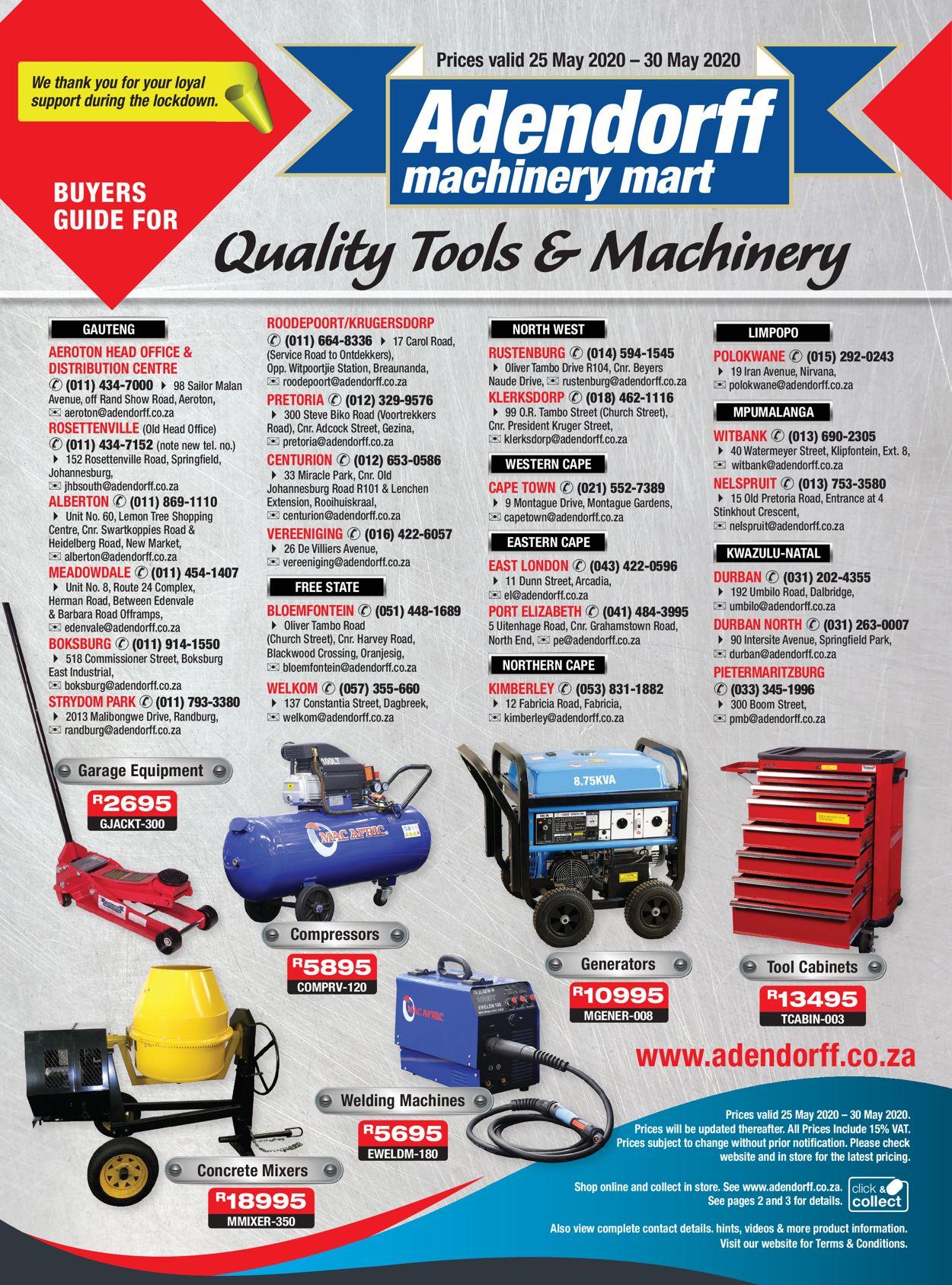 Adendorff Machinery Mart Catalogue - 2020/05/25-2020/05/30