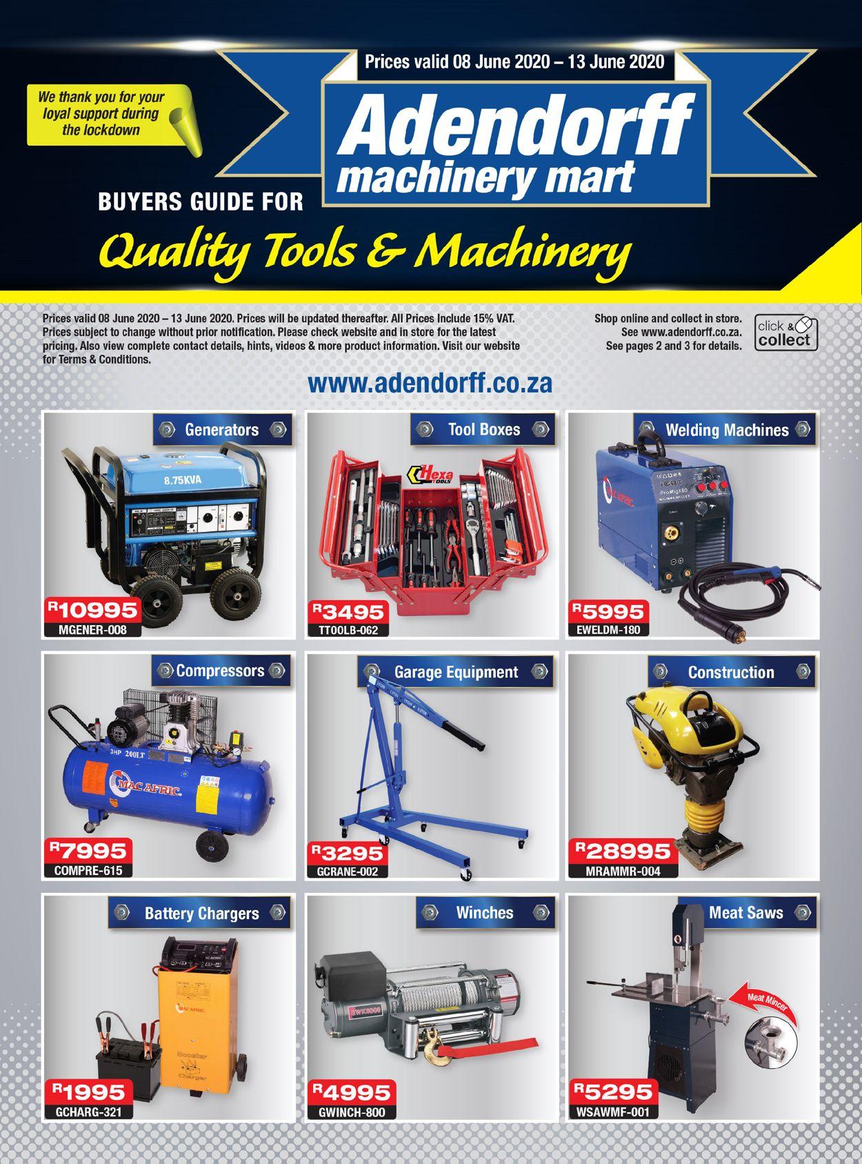 Adendorff Machinery Mart Catalogue - 2020/06/08-2020/06/13