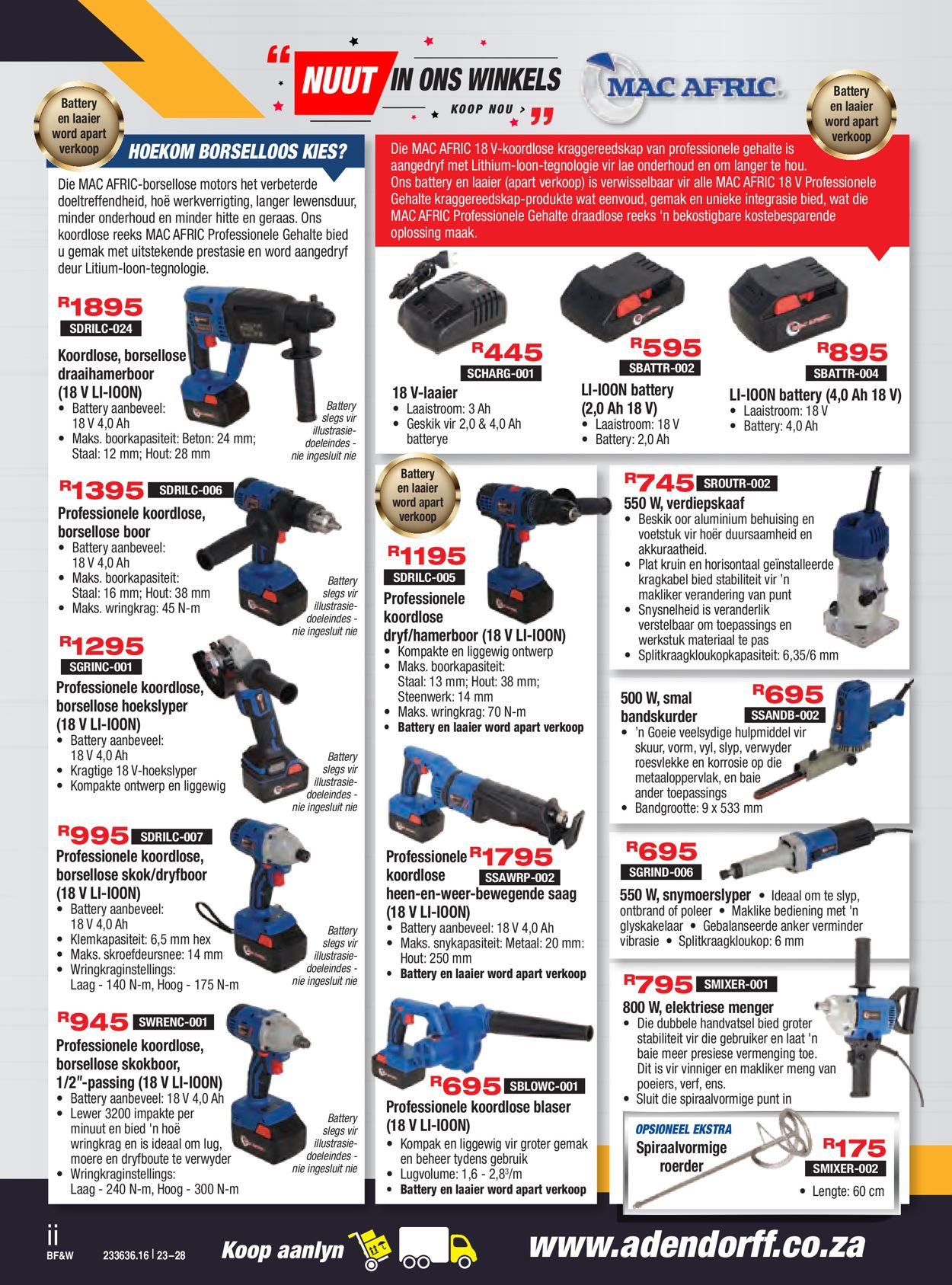 Adendorff Machinery Mart Black Friday 2020 Catalogue - 2020/11/23-2020/11/28 (Page 2)